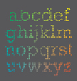 Cubic Font vector image