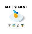Achievement icon in different style vector image