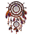 american colored bright dreamcatcher vector image