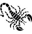 black scorpion vector image