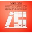 Books flat icon on orange background vector image