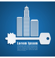 building background 2 vector image