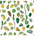 Seamless pattern with different seeds Endless vector image