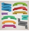 Set of retro ribbons vector image