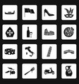 italia icons set squares vector image