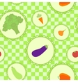 background with different vegetables vector image vector image
