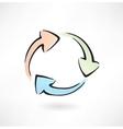 arrows cycle grunge icon vector image vector image