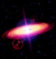 Red galaxy vector image vector image
