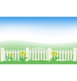 grass and fence vector image