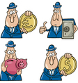 business cartoons with funny man vector image vector image