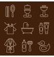 Set of Icons Bathroom vector image