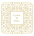 Wedding invitation card template vector image vector image