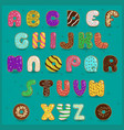 Alphabet Donuts vector image