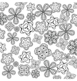 Relaxing coloring page with flowers for kids and vector image