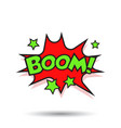 boom comic sound effects sound bubble speech with vector image