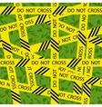 do not cross tape seamless pattern vector image
