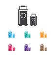 of trip symbol on baggage icon vector image