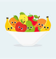 platter with fruits vector image