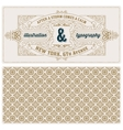vintage card template with pattern Design with vector image