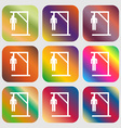 Suicide concept icon Nine buttons with bright vector image