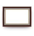 Wood Frame Set vector image vector image