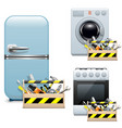 Household Appliance Repair Icons vector image