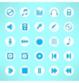 Audio icons set made in clean and simple design vector image