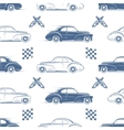 Vintage seamless pattern with cars vector image
