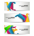 abstract header vector image vector image
