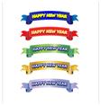 Happy new year ribbons vector image
