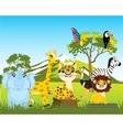 Animal world africas vector image