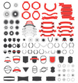 Big pack of vintage design elements vector image