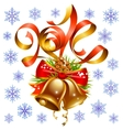 Christmas and New Year 2014 decoration set vector image