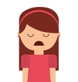depressed person character isolated vector image