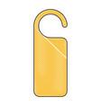 door knob do not disturb hanger corporate empty vector image