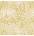 Ginkgo biloba pattern seamless vector image