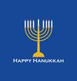 Happy hanukkah greeting card candlestick vector image