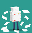 paper pile with a man vector image