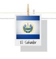 photo of el salvador flag vector image