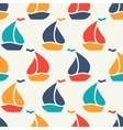 Seamless pattern of colorful sailboat shape vector image