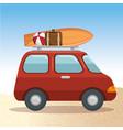 summer vacations trip design vector image