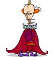 king cartoon fantasy character vector image