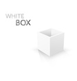 White Box isolated on white background vector image