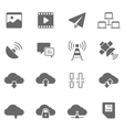 Icon set - network communication vector image vector image