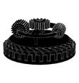 black gear mechanism vector image