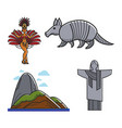 brazilian traditional symbols vector image