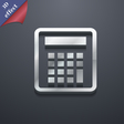 Calculator icon symbol 3D style Trendy modern vector image