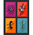 retro posters collection vintage art vector image