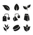 Tea Leaf and Bags Icons Set vector image