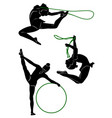 gymnastic 2 vector image vector image